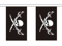 Pirate Skull and Crossbones Brethren of the Coast Flag 3m Bunting
